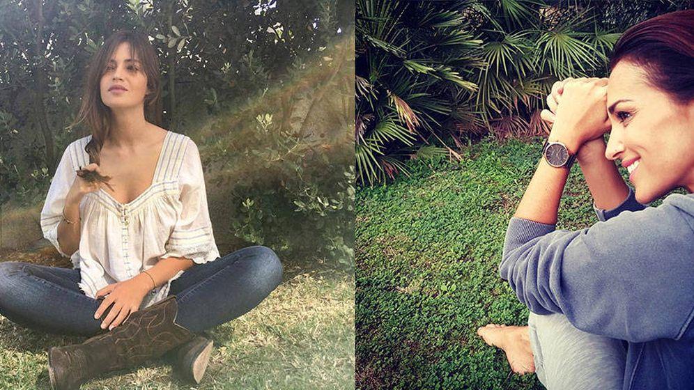 Foto: Sara Carbonero y Paula Echevarría practican los baños de bosque siempre que pueden.