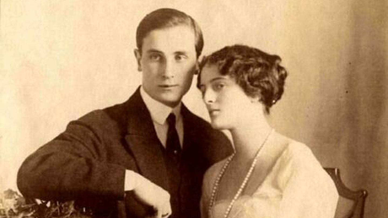 El príncipe y su esposa Irina. (Wikicommons)