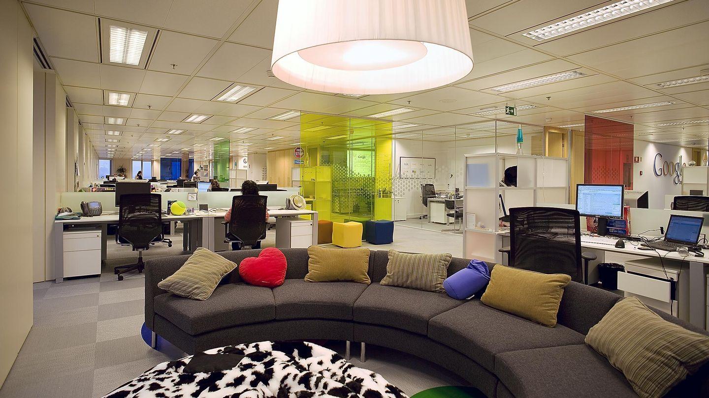 Área de descanso de las oficinas de Google en España.