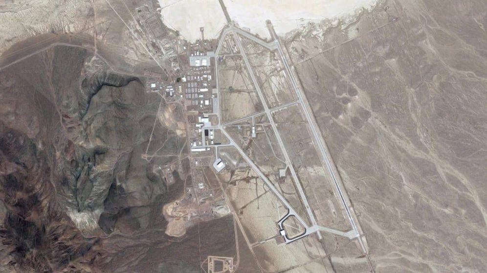 Foto: Imagen aérea de una de las zonas visibles al público del Área 51. (Google Maps)
