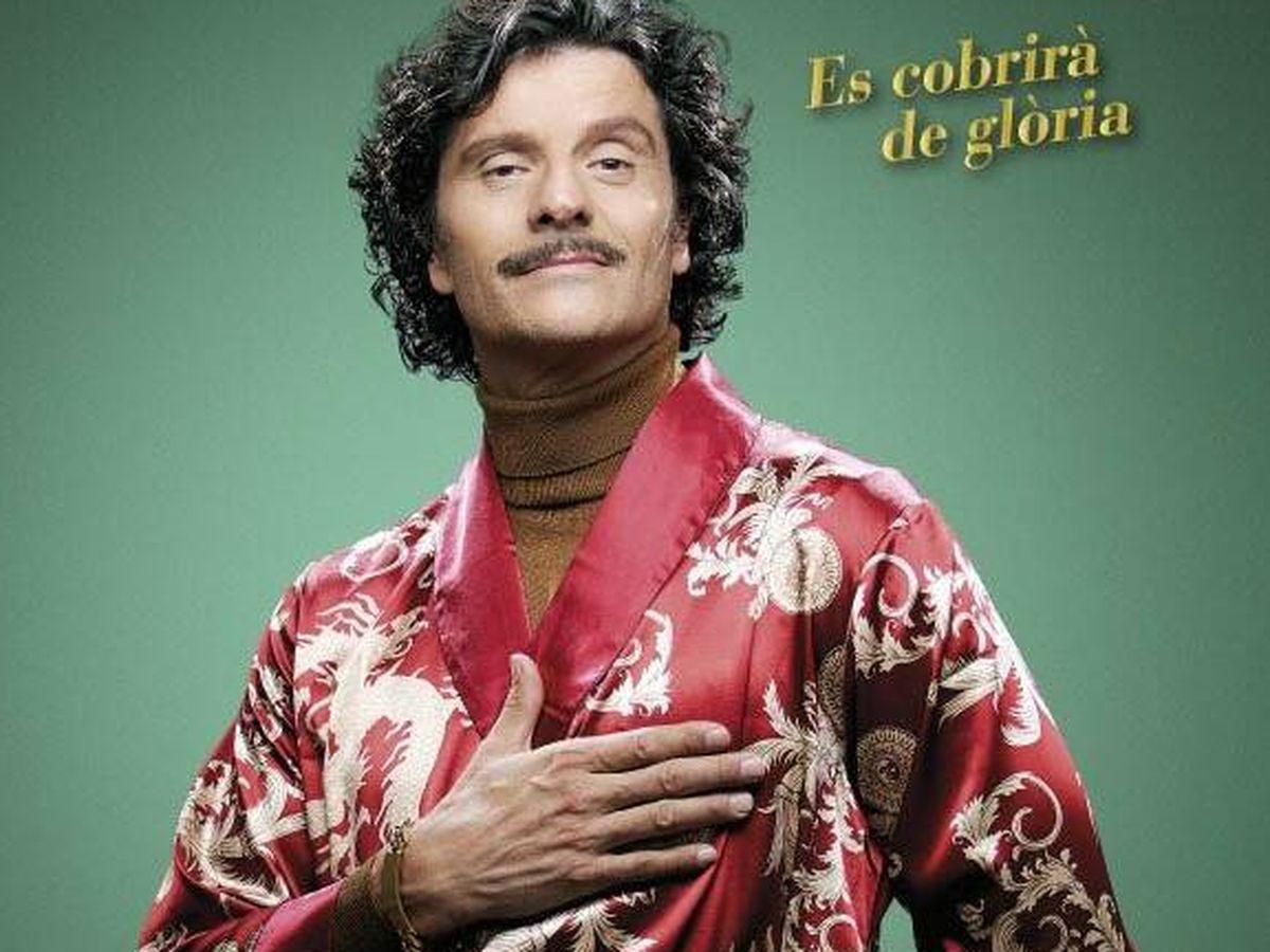 Foto: El actor Joel Joan, en el cartel promocional de 'El gran comediante' (Twitter)