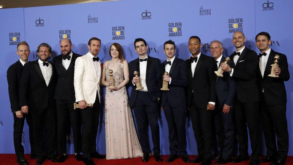 Foto: Parte del elenco del premiadísimo musical 'La La Land' en la entrega de los Globos de Oro 2017 (Reuters)