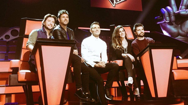 Coaches y presentador de 'La Voz 5'. (Mediaset)