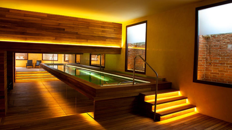 El sofisticado spa del hotel Urso.