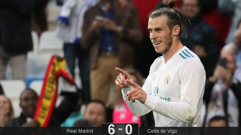 Foto: Bale marcó los dos primeros goles del Real Madrid en la goleada ante el Celta. (Reuters)