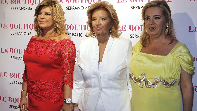 María Teresa Campos con sus hijas Terelu y Carmen (Gtres)