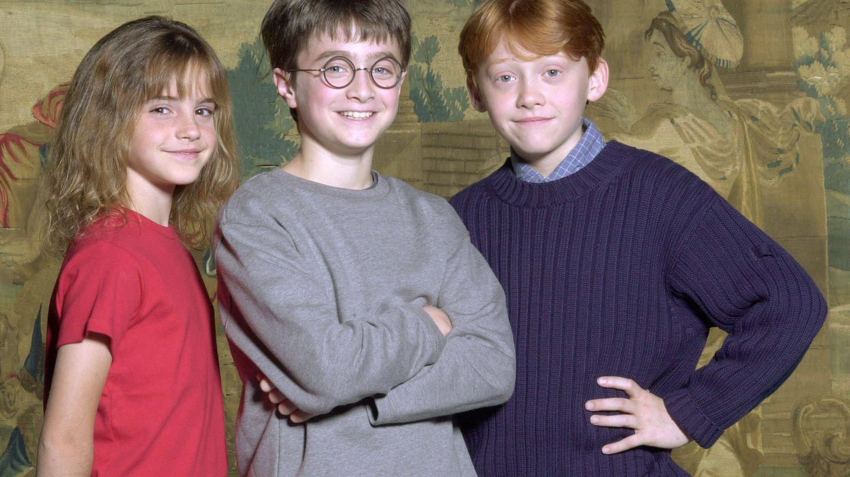 Los jóvenes protagonistas de 'Harry Potter'. (Getty)