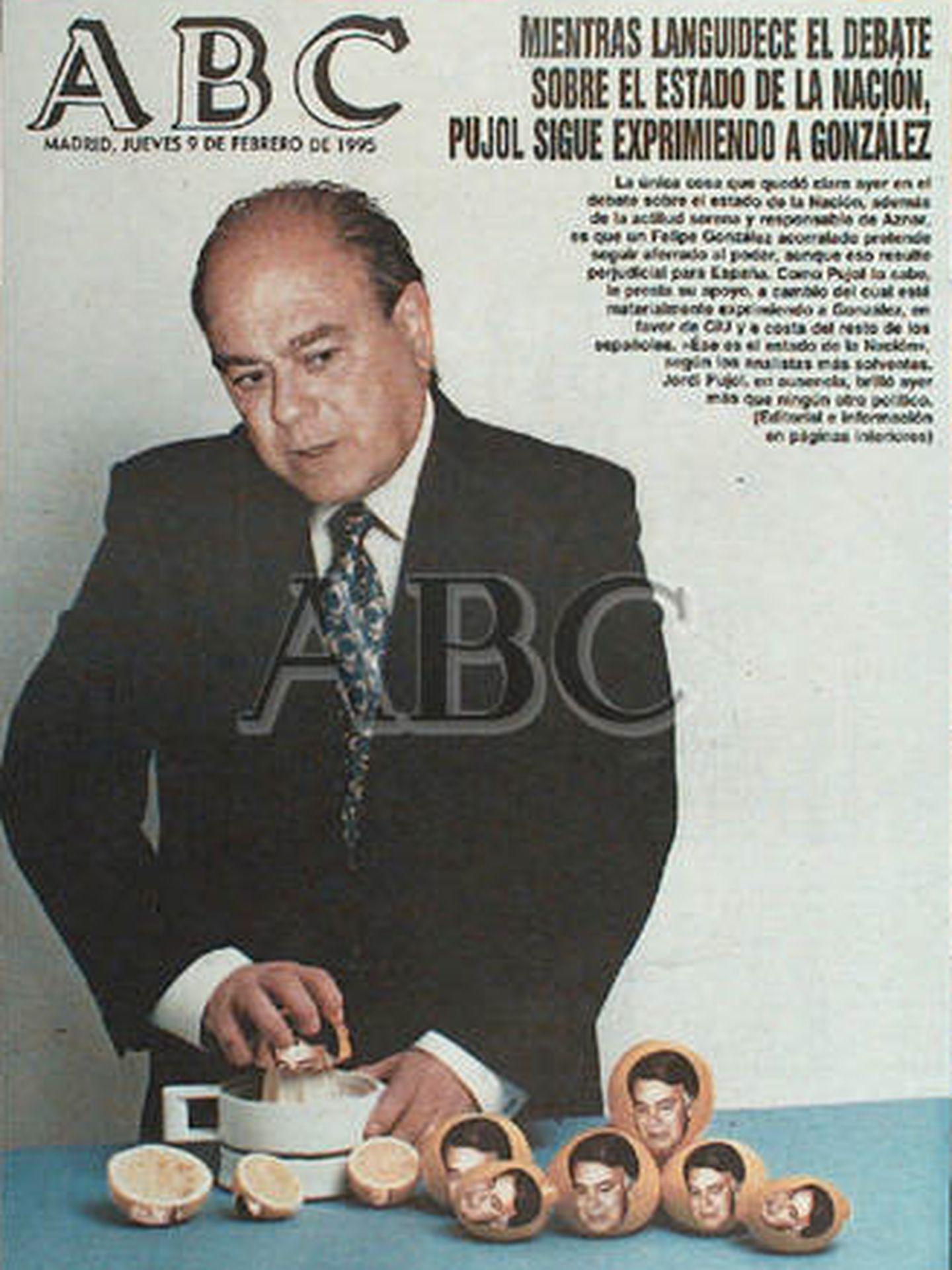Portada histórica de Anson: Pujol haciendo un zumito.
