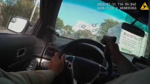 Impactantes imágenes de una persecución en Las Vegas a dos sospechosos de asesinato