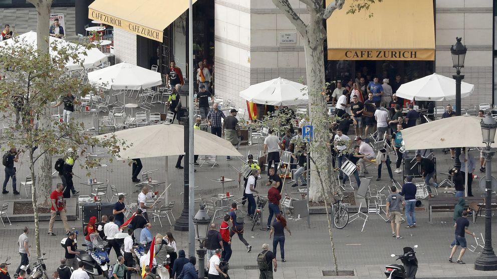 Más de 20 detenidos por una pelea entre ultras el 12 de octubre en Barcelona