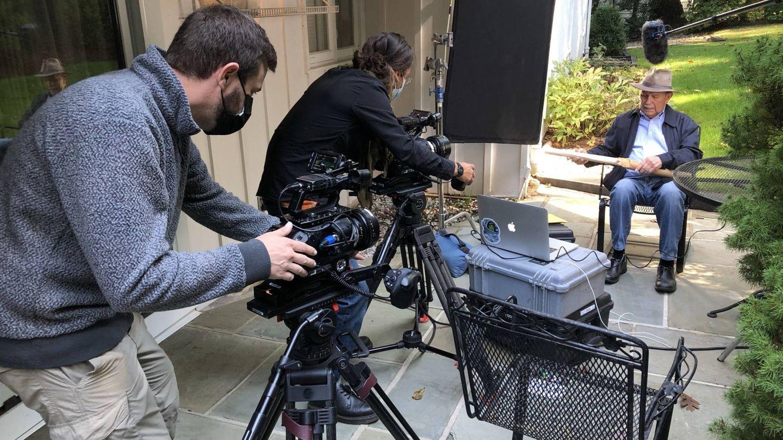 Rodaje de la serie documental 'Palomares'. (Movistar )
