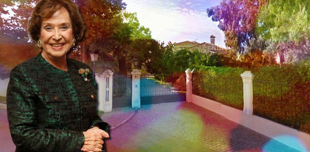 Foto: Carmen Franco y Villa Verde en un fotomontaje de Vanitatis