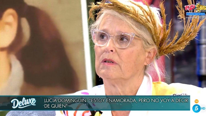 Lucía Dominguín, en 'Viernes Deluxe'. (Telecinco).