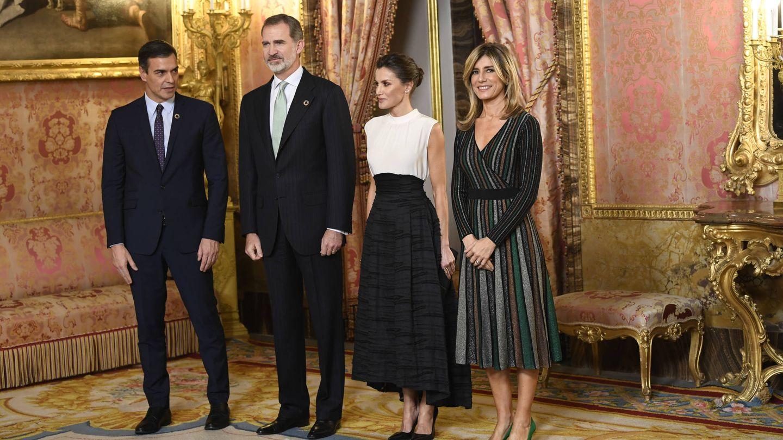 Los reyes Felipe y Letizia, junto a Pedro Sánchez y Begoña Gómez. (Limited Pictures)