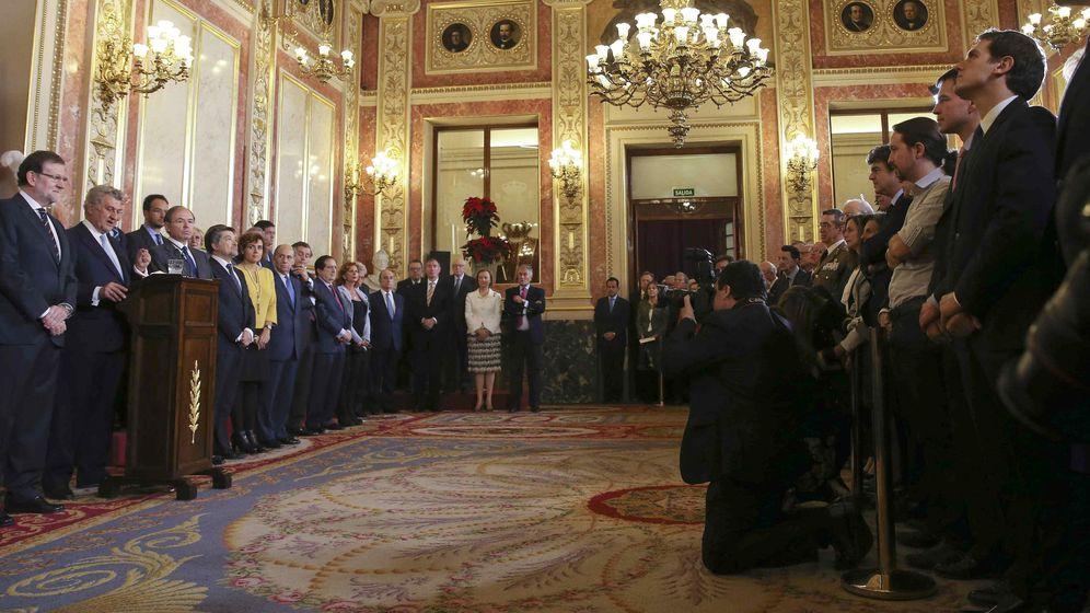Foto: Acto del día de la Constitución de 2015 en el Congreso. (EFE)