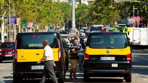 Directo huelga taxi | Cortada la Castellana en Madrid y Gracia en Barcelona
