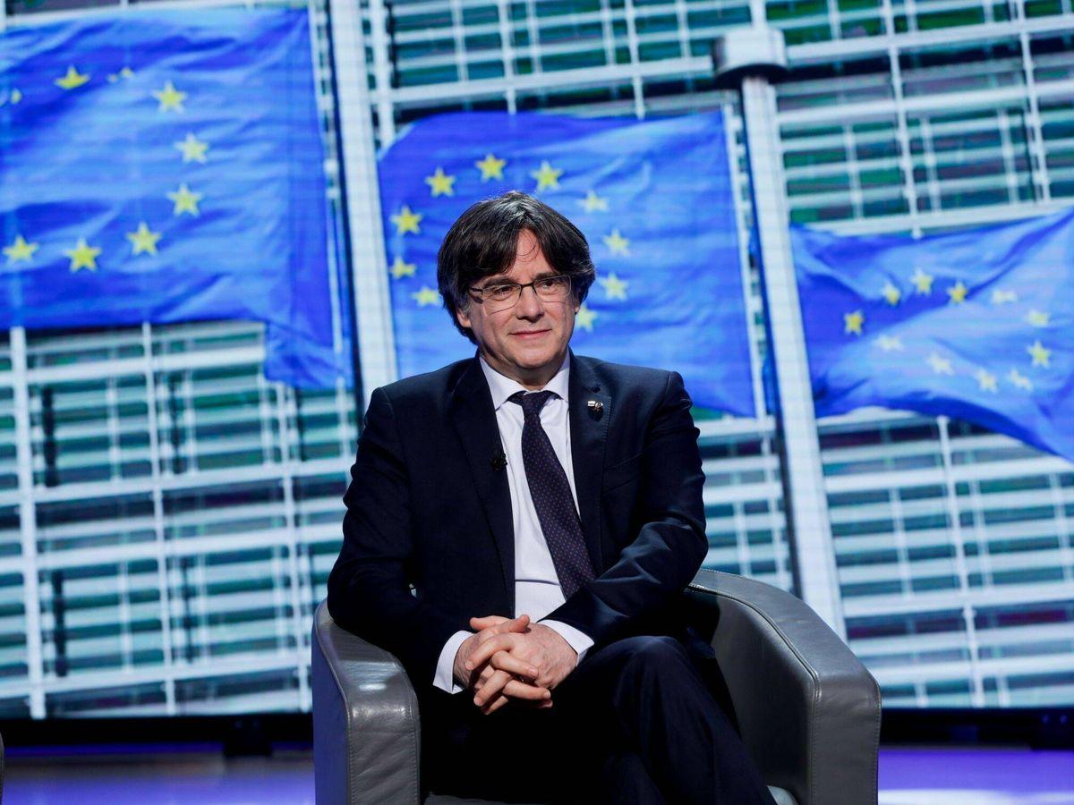 Foto: Carles Puigdemont, entrevistado en el Parlamento Europeo. (EFE)