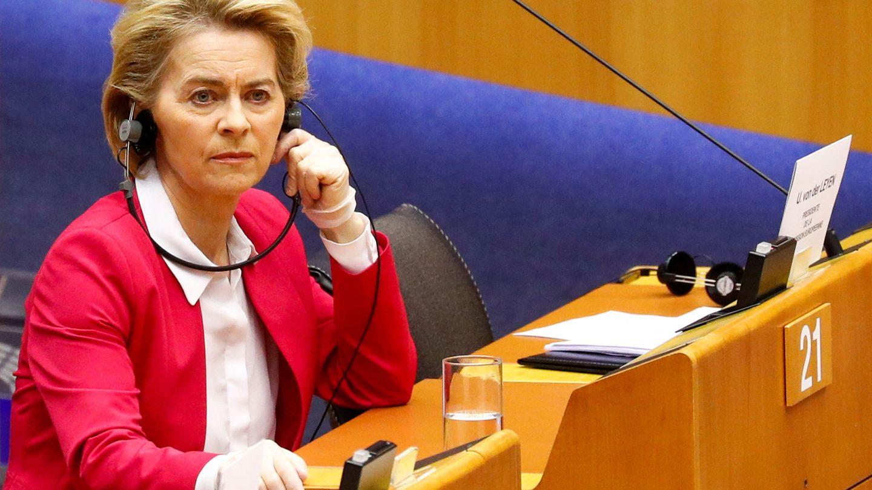 La presidenta de la Comisión Europea durante un pleno del Parlamento Europeo. (Reuters)