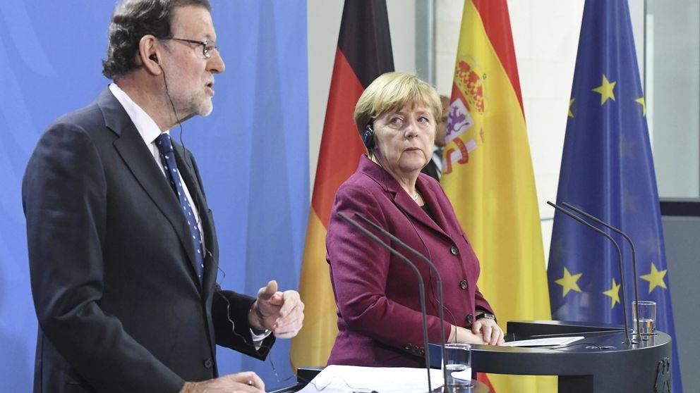 Merkel mima a Rajoy: España va por una senda muy positiva