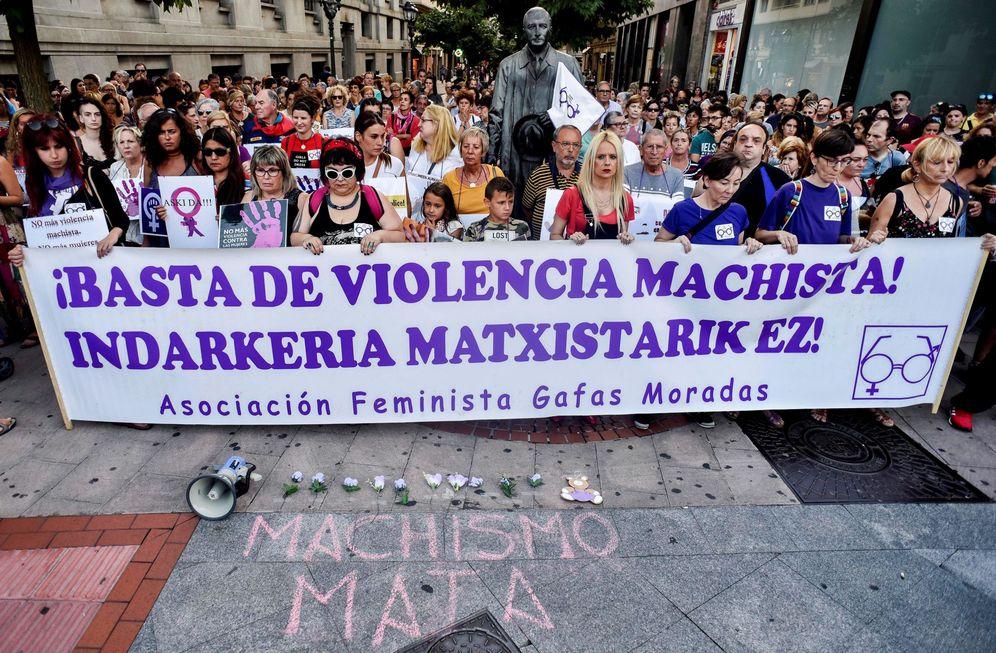 Foto: Concentración en Bilbao contra las agresiones machistas. (EFE)