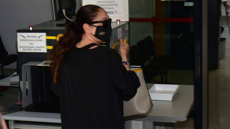 Isabel Pantoja, en su llegada al juzgado. (CP)