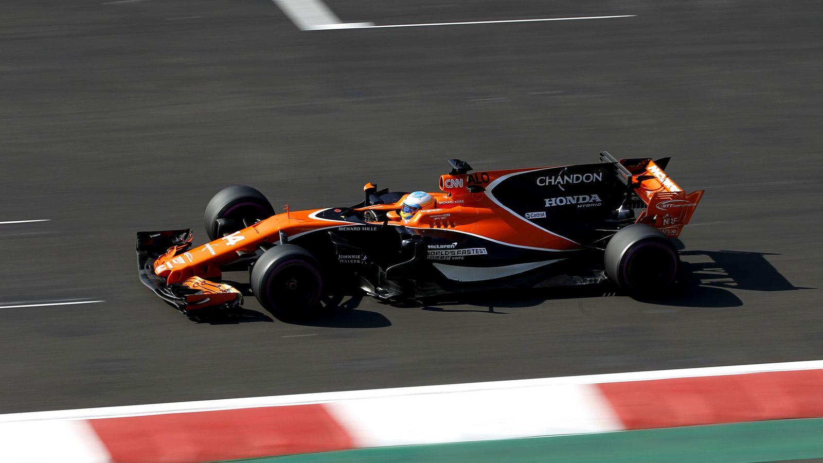 Foto: Fernando Alonso fue quinto en la Q1 de este sábado en Ciudad de México. (EFE)