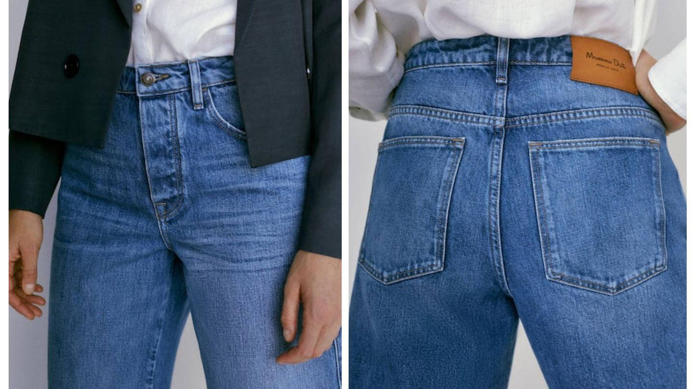 La falda pantalón vaquera de Massimo Dutti. (Cortesía)