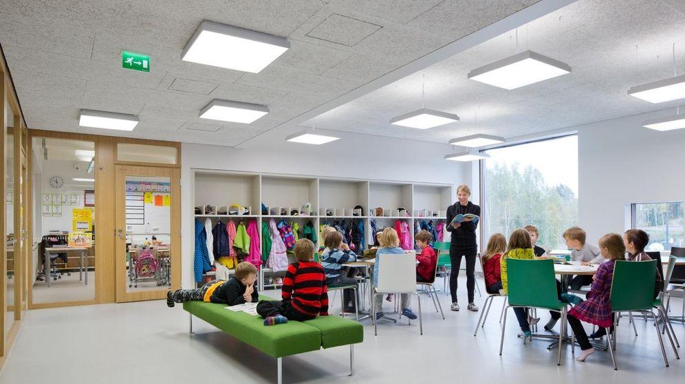 Foto: Así son las aulas en el colegio de Saunalahti. (Andreas Meichsner)
