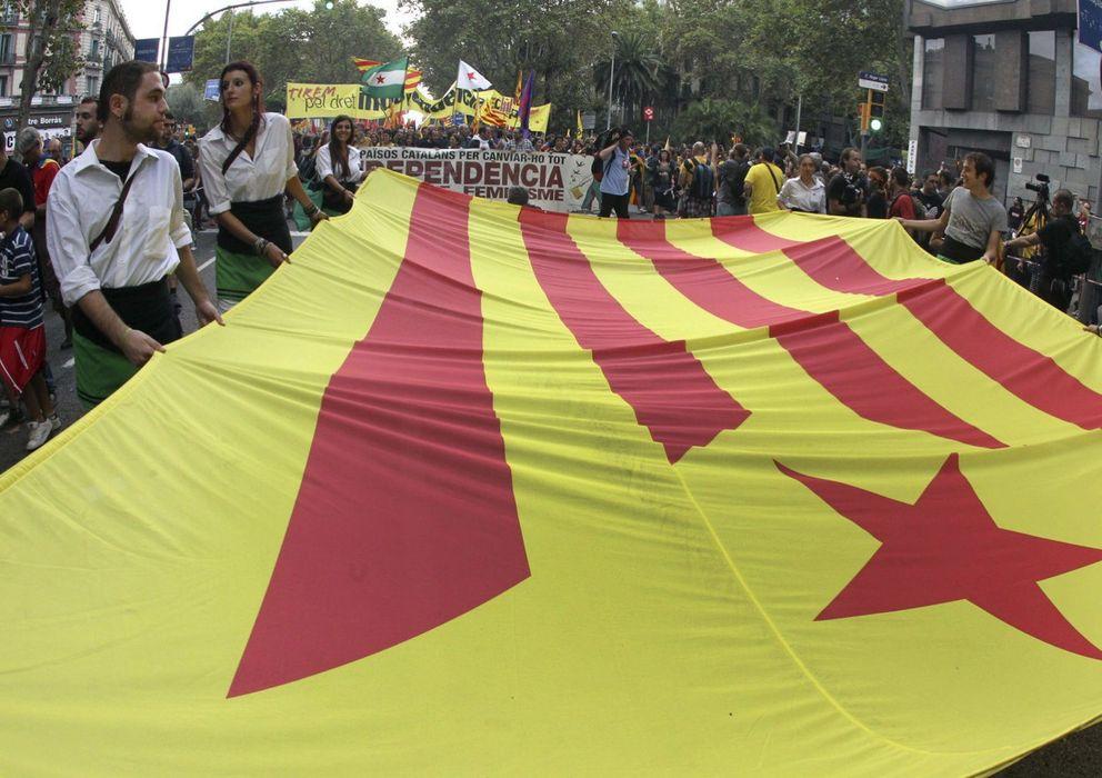 Foto: Manifestación de la diada nacional de Cataluña (Efe)