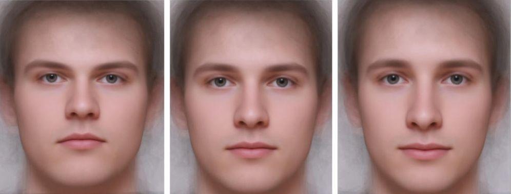 Foto: ¿Cuál de estos rostros es más inteligente? (PLOSOne)