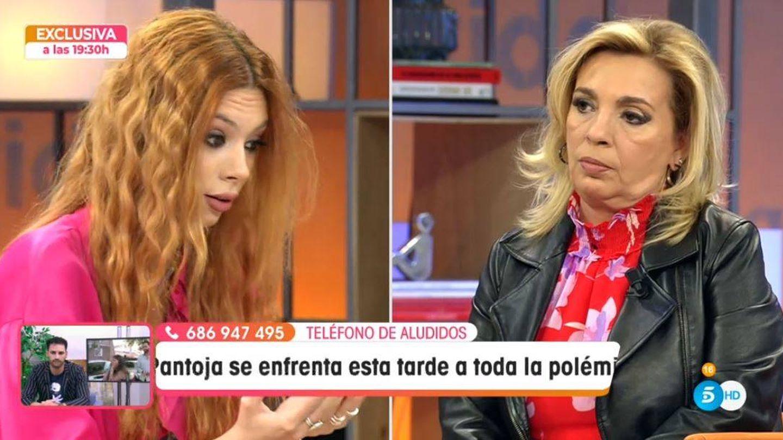 Alejandra Rubio y Carmen Borrego, en 'Viva la vida'. (Mediaset España)