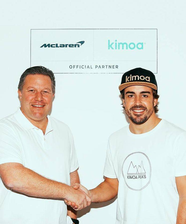Foto: Kimoa es patrocinador de McLaren, la escudería con la que compite Fernando Alonso. (Kimoa)