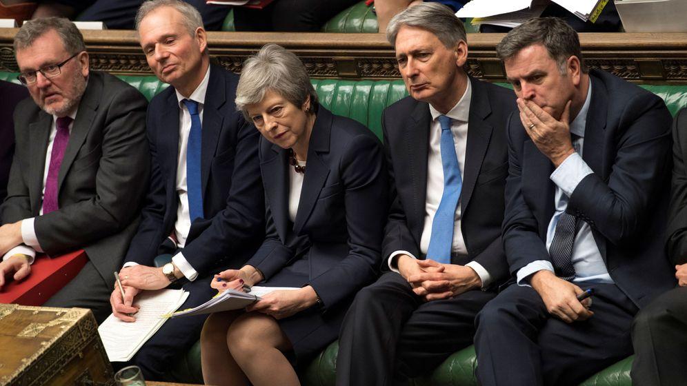 Foto: Theresa May en el Parlamento británico. (Reuters)