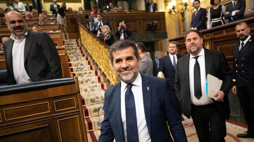 Foto: Jordi Sànchez, en el Congreso. (Reuters).