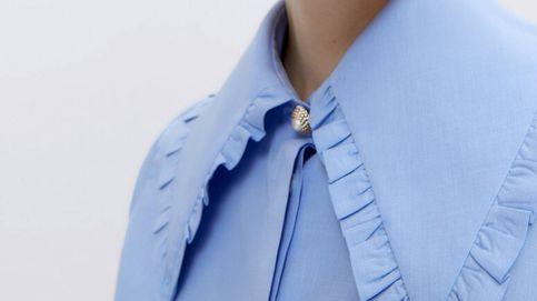 Esta camisa con cuello bobo de Uterqüe va a ser nuestro nuevo básico