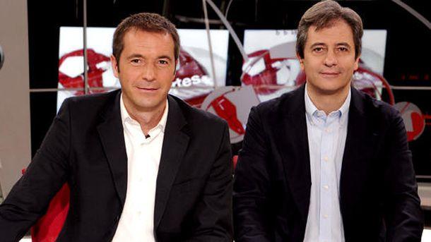 Foto: Manu Carreño y Manolo Lama, en 'Deportes Cuatro'. (EC)