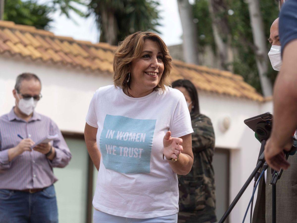 Foto: Susana Díaz, ayer, en un acto con militantes en Córdoba. (EFE)