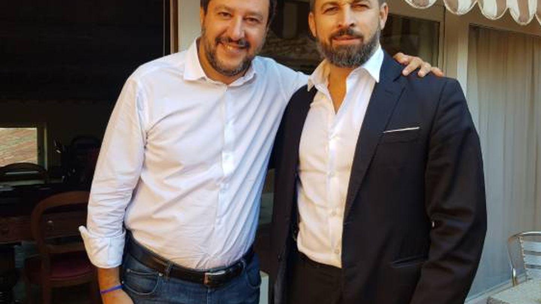 Matteo Salvini y Santiago Abascal. (Twitter)