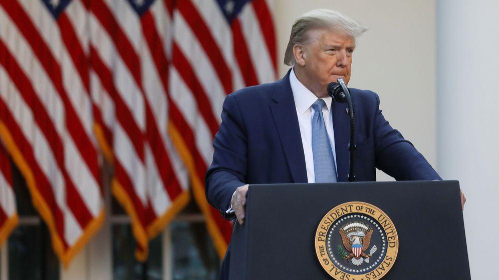 Foto: Trump, en la conferencia de prensa diaria sobre el coronavirus. (Reuters)