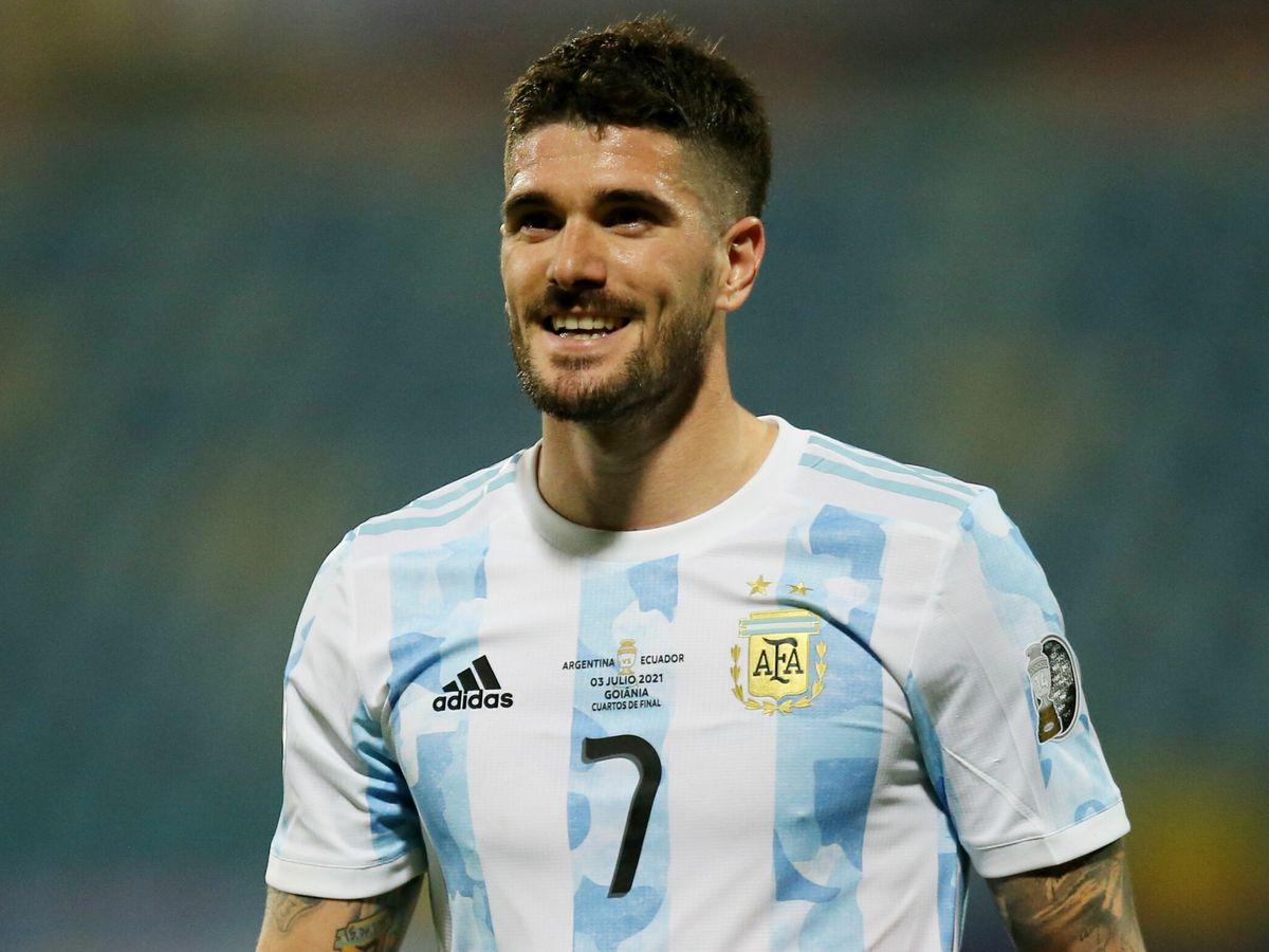 Foto: Rodrigo de Paul, durante la Copa América con Argentina. (Reuters)