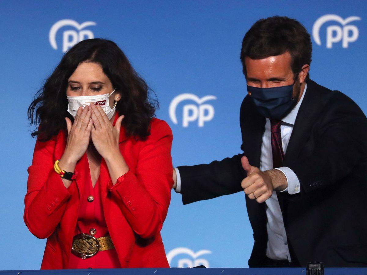 Foto: Isabel Díaz Ayuso y Pablo Casado. (Reuters)