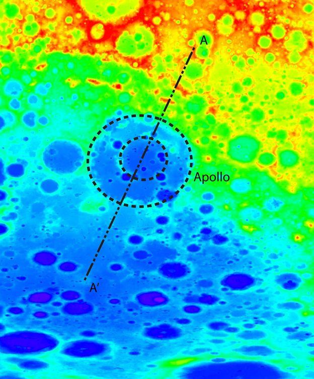 Foto: Imagen del descubrimiento de la Cuenca Aitken en 2010. (EFE)
