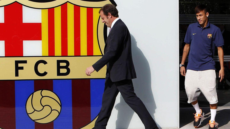 Presentación de Neymar. (EFE)