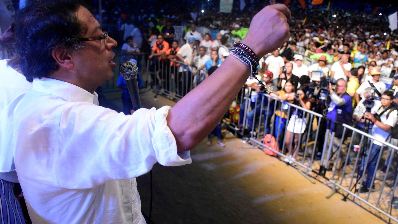 Petro, durante un mitin de cierre de campaña en Barranquilla, el 20 de mayo de 2018. (Reuters)