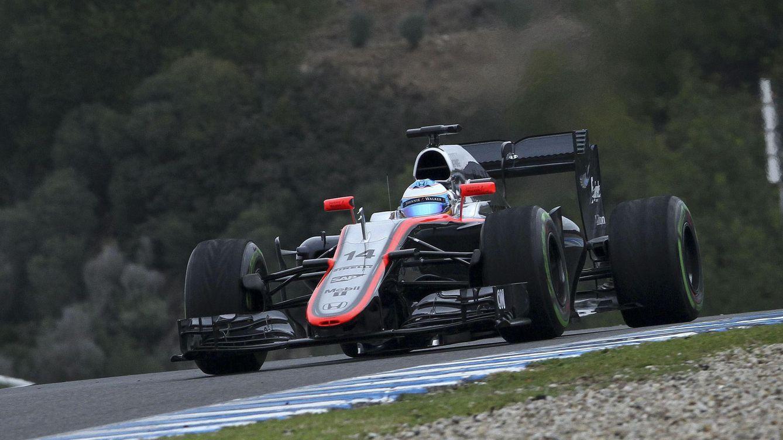 Foto: Entrenamientos de pretemporada del McLaren (EFE/Román Ríos)