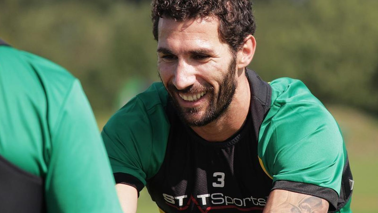 Foto: Carlos Cuéllar, en un entrenamiento con el Norwich City.