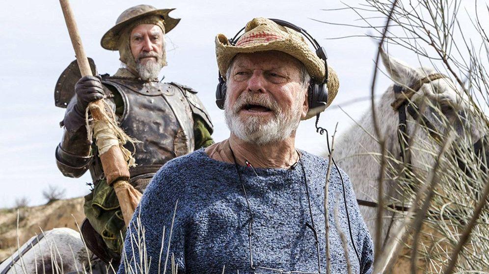 Foto: Jonathan Pryce y Terry Gilliam en una imagen del rodaje de 'El hombre que mató a Don Quijote'. (Tornasol)