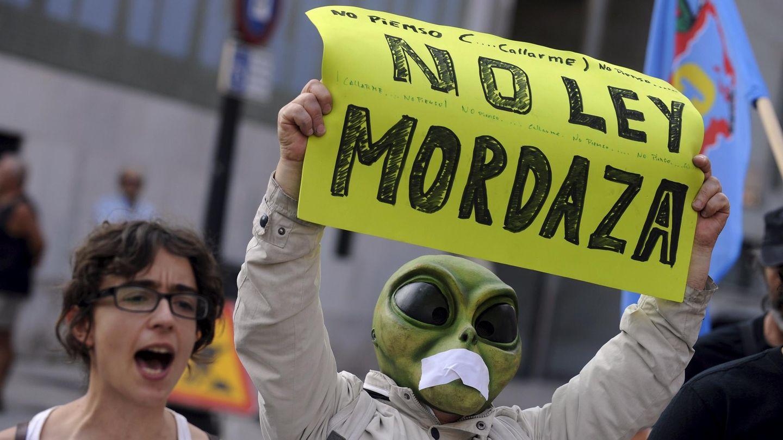 Protestas contra la Ley Mordaza (Foto: Reuters)