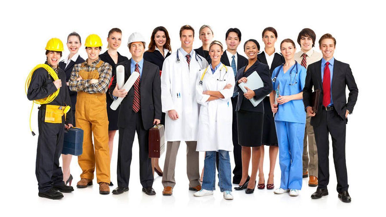 Foto: Diferentes trabajadores