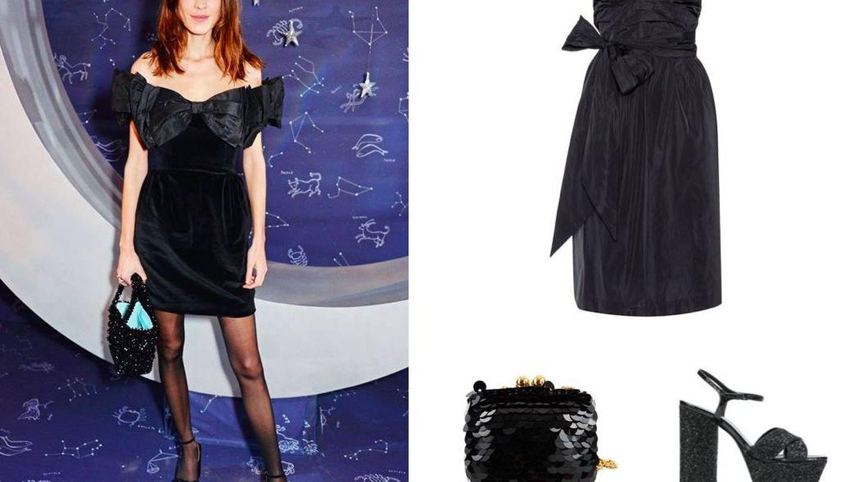 Para este outfit vestido y complementos en negro, por favor. (Pinterest)